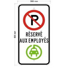 Stationnement réservé aux employés