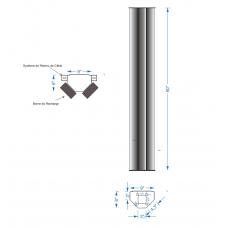 Piédestal aluminium